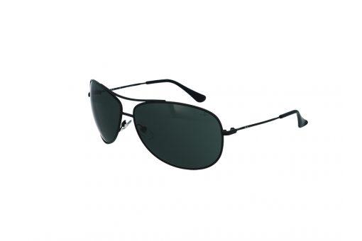משקפיי שמש טייסים מבית רייבן מסגרת מתכת בגוון שחור מט ספורטיבי עם עדשות טייסים מקומרות בגוון רייבן ירוק