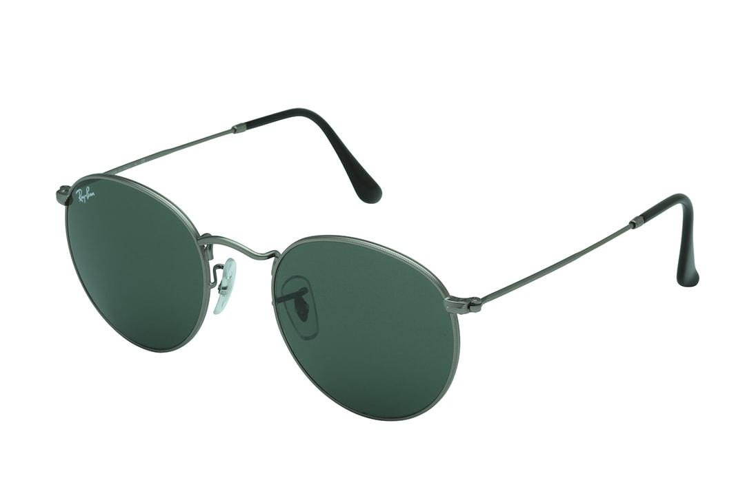 משקפי שמש מבית Ray Ban בדגם יוניסקס בגוון אפור ועדשות בגוון ירוק