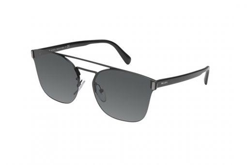 משקפי שמש מבית Prada בדגם גברי מרובע בגוון שחור וגשר אף כפול
