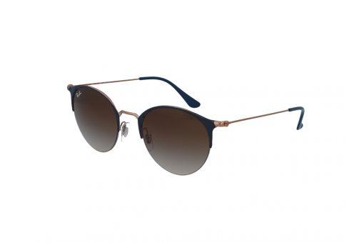 משקפי שמש מבית רייבן מסגרת בגוון ברונזה בשילוב כחול ועדשות בגוון חום מדורג