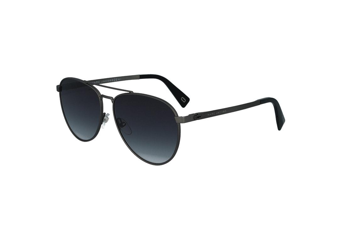 משקפי שמש מבית Marc Jacobs בדגם טייסים גברי בגוון אפור ועדשות תואמות