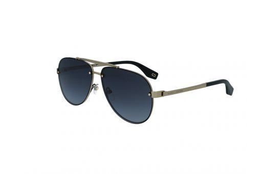 משקפי שמש מבית Marc Jacobs בדגם טייסים גברי בגוון שחור-זהב עם גשר אף כפול ועדשות תואמות