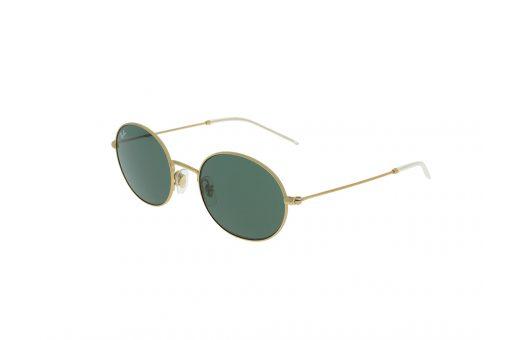 משקפי שמש אובלים מבית רייבן מסגרת מתכת בגוון זהב מוברש ועדשות רייבן ירוקות