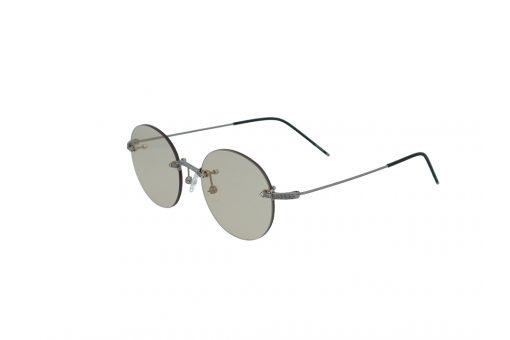 משקפי שמש מבית Cool ray בדגם יוניסקס עגול ללא מסגרת בגוון כסוף ועדשות בגוון חום בהיר