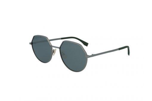 משקפי שמש מבית Fendi בדגם יוניסקס בגוון כסוף ועדשות מראה תואמות