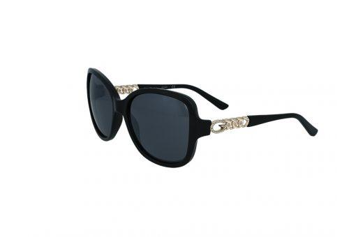 משקפי שמש מבית Guess בדגם אובר סייז בגוון שחור עם עדשות כהות