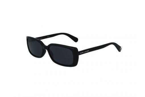 משקפי שמש מבית Marc Jacobs בדגם מלבני בגוון שחור ועדשות כהות