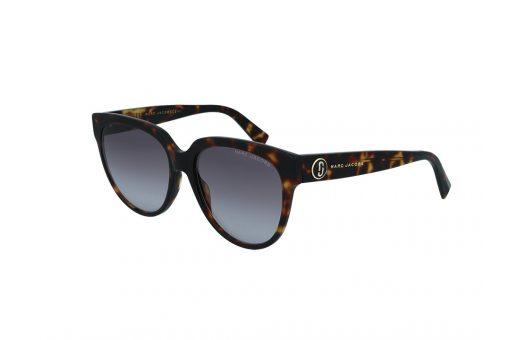 משקפי שמש מבית Marc Jacobs בדגם אובר סייז בגוון מנומר ועדשות בהירות