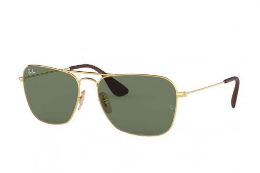 משקפי שמש דגם קרוון מבית רייבן מסגרת מתכת מוזהבת ועדשות בירוק רייבן ייחודי
