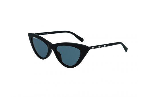 משקפי שמש מבית Swarovski בדגם חתולי בגוון שחור ועדשות בגוון כחול