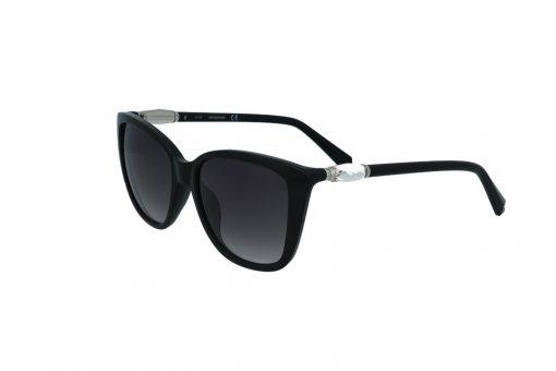 משקפי שמש מבית Swarovski בדגם חתולי בגוון שחור ועדשות תואמות