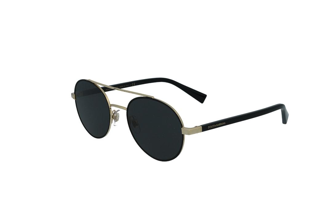 משקפי שמש מבית Dolce&Gabbana בדגם טייסים עגול עם גשר אף כפול ועדשות תואמות