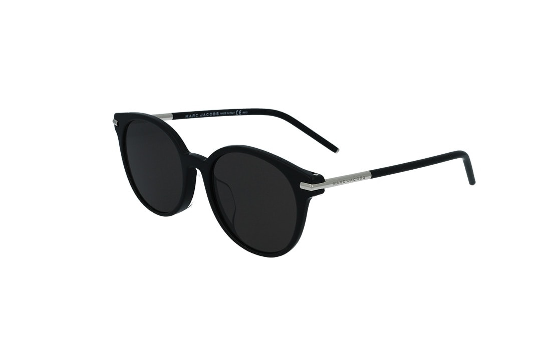 משקפי שמש מבית Marc Jacobs בדגם עגול עם עדשות שטוחות בגוון שחור