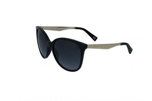 משקפי שמש מבית Marc Jacobs בדגם אובר סייז חתולי בגווני שחור וזהב ועדשות תואמות