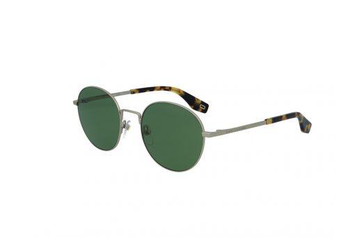 משקפי שמש מבית Marc Jacobs בדגם יוניסקס עגול בגוון זהוב-מנומר ועדשות בגוון ירוק