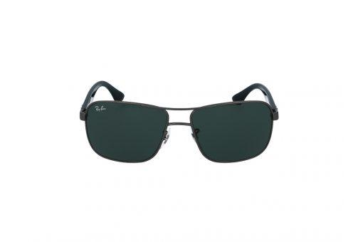 משקפי שמש טייסים עם עדשות מלבניות מבית רייבן מסגרת מתכת גנמטל בשילוב שחור ועדשות ירוק רייבן
