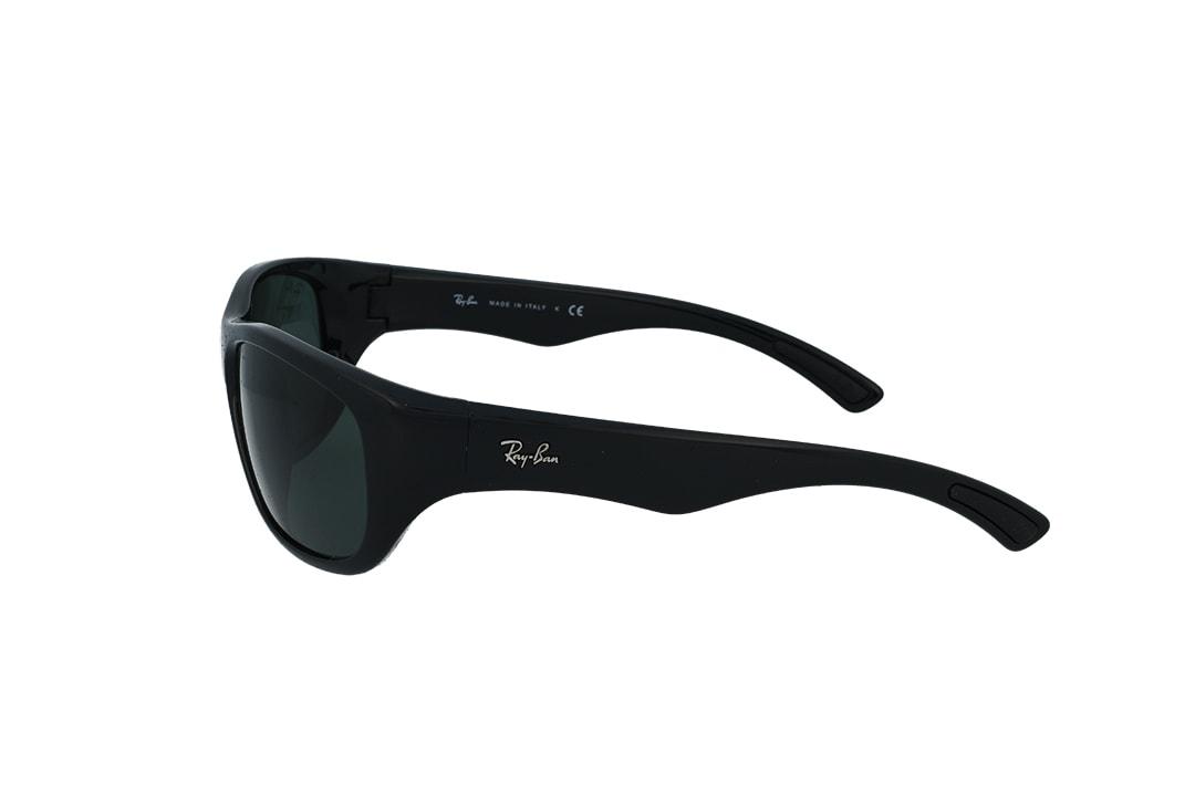 משקפי שמש בדגם ספורט מקומר מבית רייבן פלסטיק שחור מט ועדשות ירוק רייבן מתאים למבנה פנים רחב