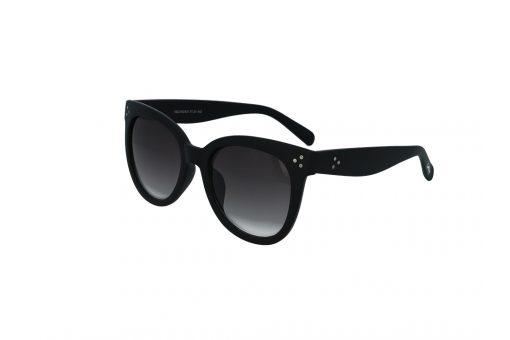 משקפי שמש מבית COOLRAY במסגרת אוברסייז שחורה משובצת ניטים ועדשות מדורגות