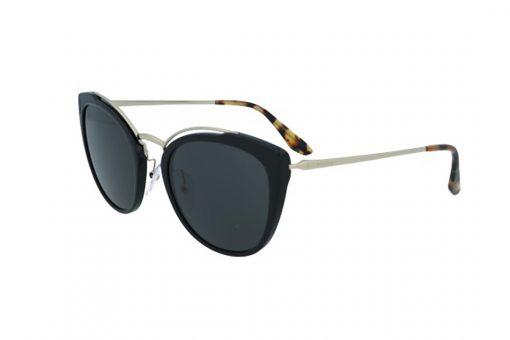 משקפי שמש מבית Prada בדגם חתולי בגווני שחור זהב ומנומר ועדשות כהות
