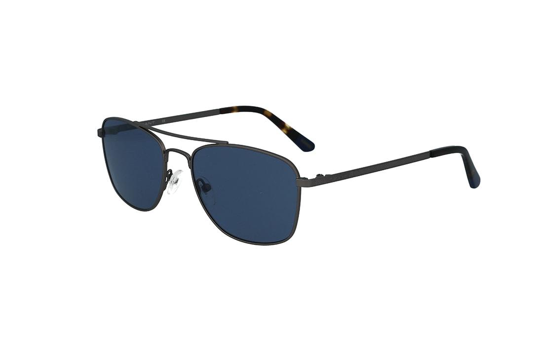 משקפי שמש מבית Gant בדגם טייסים מרובע בגוון כסוף ועדשות בגוון כחול
