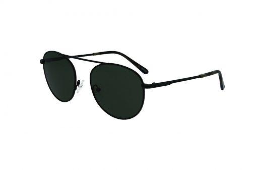 משקפי שמש מבית Gant בדגם טייסים בגוון שחור וגשר אף יחיד