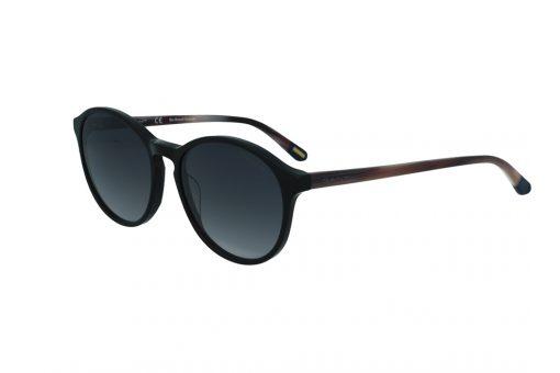 משקפי שמש מבית Gant בדגם אובר סייז עגול בגווני שחור ושמנת ועדשות כהות