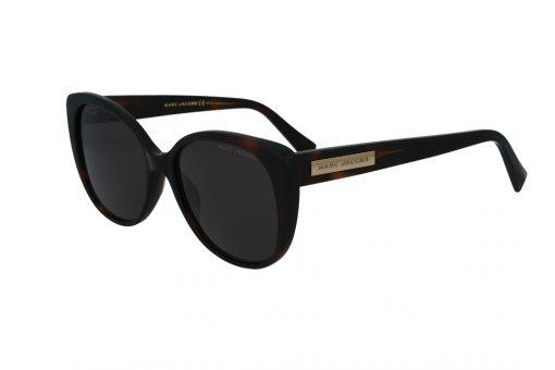משקפי שמש מבית Marc Jacobs בדגם אובר סייז בגוון מנומר כהה ועדשות תואמות
