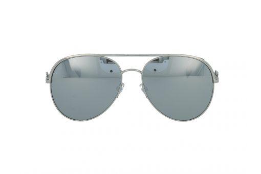משקפי שמש מבית Marc Jacobs בדגם טייסים עם גשר אף כפול בגוון כסוף ועדשות מראה תואמות