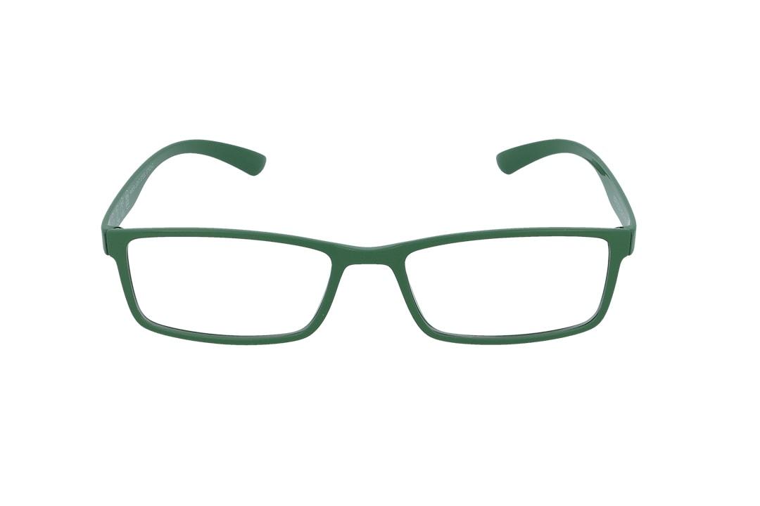 משקפיים מבית ULTEMATE בגוון ירוק עם עדשות בלו לייט מסננות את האור הכחול הבוקע מתאורה מלאכותית ומסכים, ובכך מסייעות בהפחתת נזקים בריאותיים, בשיפור איכות-השינה והריכוז. העדשות בעלות גוון צהבהב, המרגיע ומפחית עומס על העיניים. העדשות מגיעות ללא מספר