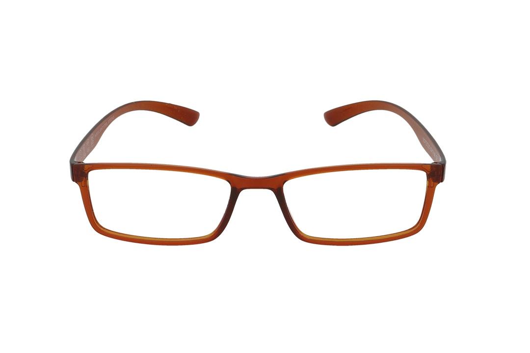משקפיים מבית ULTEMATE בגוון חום בהיר עם עדשות בלו לייט מסננות את האור הכחול הבוקע מתאורה מלאכותית ומסכים, ובכך מסייעות בהפחתת נזקים בריאותיים, בשיפור איכות-השינה והריכוז. העדשות בעלות גוון צהבהב, המרגיע ומפחית עומס על העיניים. העדשות מגיעות ללא מספר