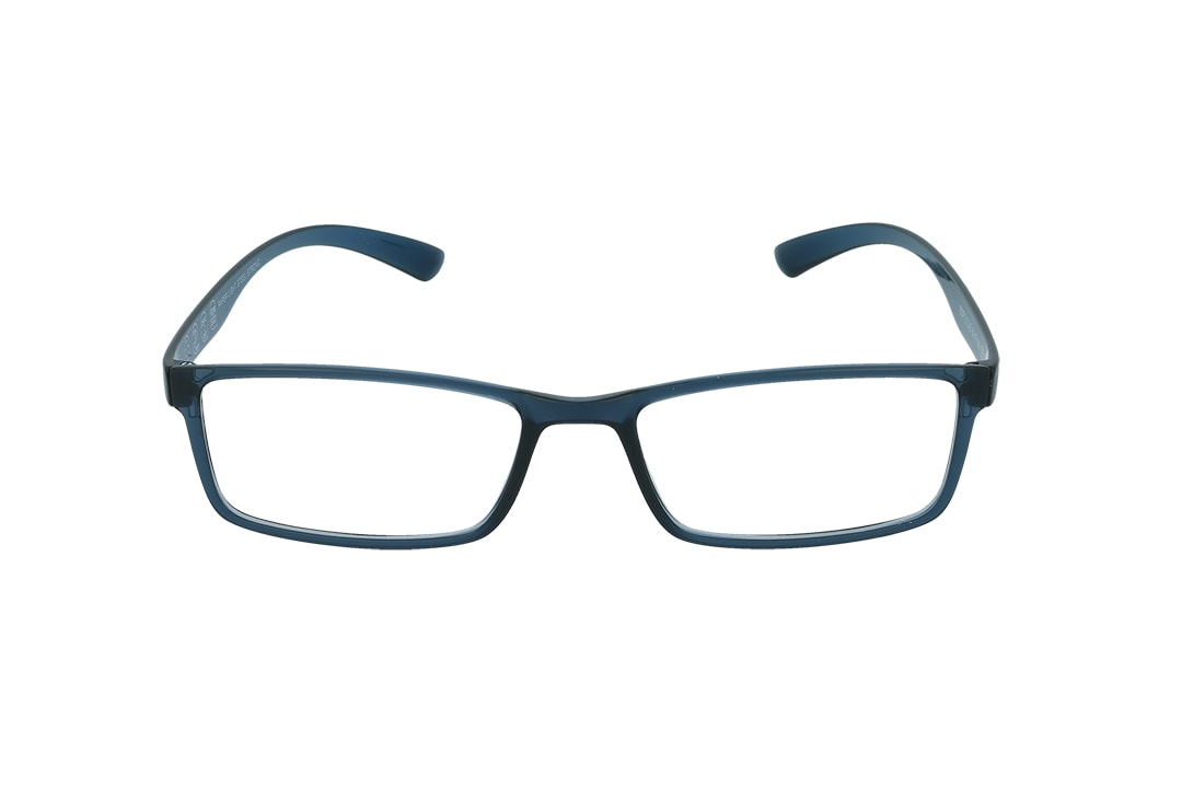 משקפיים מבית ULTEMATE בגוון כחול ים בהיר עם עדשות בלו לייט מסננות את האור הכחול הבוקע מתאורה מלאכותית ומסכים, ובכך מסייעות בהפחתת נזקים בריאותיים, בשיפור איכות-השינה והריכוז. העדשות בעלות גוון צהבהב, המרגיע ומפחית עומס על העיניים. העדשות מגיעות ללא מספר