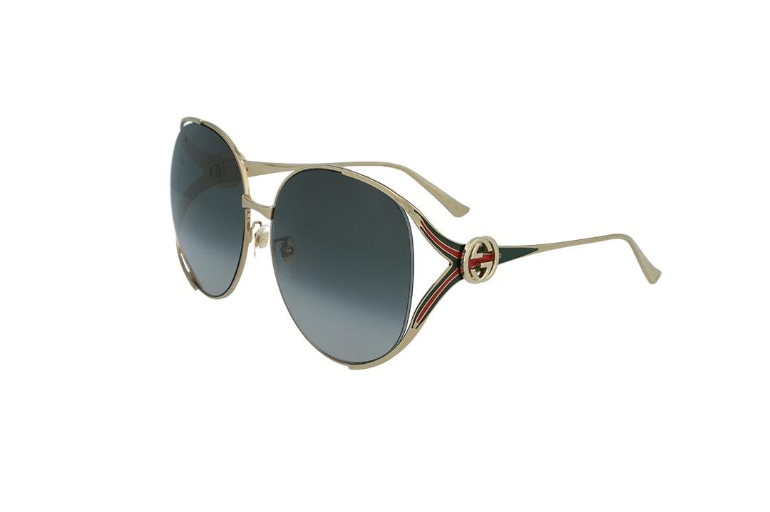 משקפי שמש Gucci מסגרת כהה מדורג בגוון אובר סייז מרובע