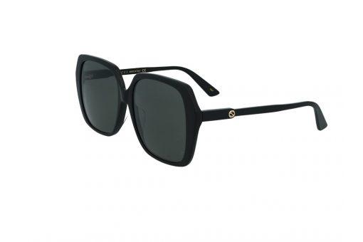 משקפי שמש Gucci מסגרת כהה בגוון אובר סייז מרובע