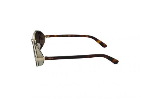 משקפי שמש Jimmy Choo מסגרת כהה בגוון מיניסייז אליפסה