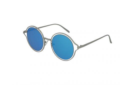 משקפי שמש מבית Cool Ray מסגרת עגולה בגוון כסף- שקוף