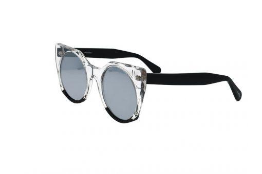 משקפי שמש מבית Cool Ray מסגרת חתולית בגוון שקוף- שחור