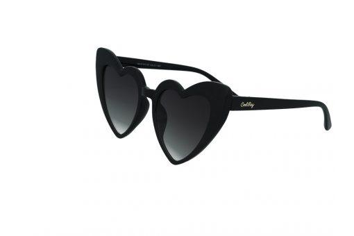 משקפי שמש מבית Cool Ray מסגרת לב בגוון שחור