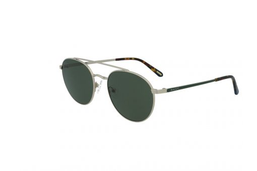 משקפי שמש מבית Gant בדגם טייסים עם גשר אף כפול ועדשות בגוון ירוק