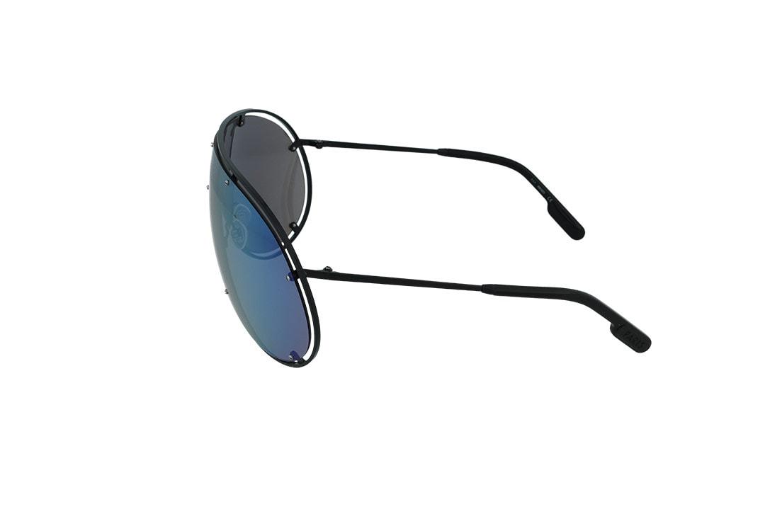 משקפי שמש מבית KENZO בדגם מסיכה טרנדי בגוון שחור ועדשת מראה