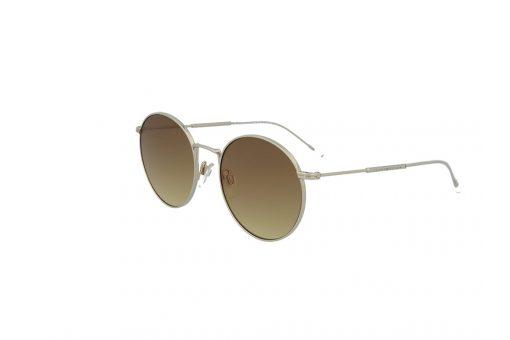 משקפי שמש מבית Tommy Hilfiger בדגם עגול בגוון זהוב ועדשות בגוון חום בהיר