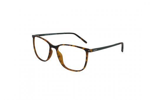 משקפי ראייה Ultemate opt מסגרת אולטם בגוון שחור מט זרוע לבנה