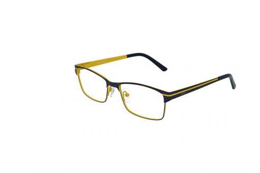 משקפי ראייה CoolRay opt מסגרת מתכת בגוון כחול מט וחרדל