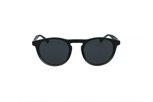 משקפי שמש מבית BOSS בדגם גברי עגול בגוון שחור עם עדשות כהות