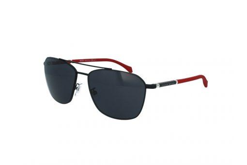 משקפי שמש מבית BOSS בדגם טייסים גברי בגוון שחור עם עדשות כהות