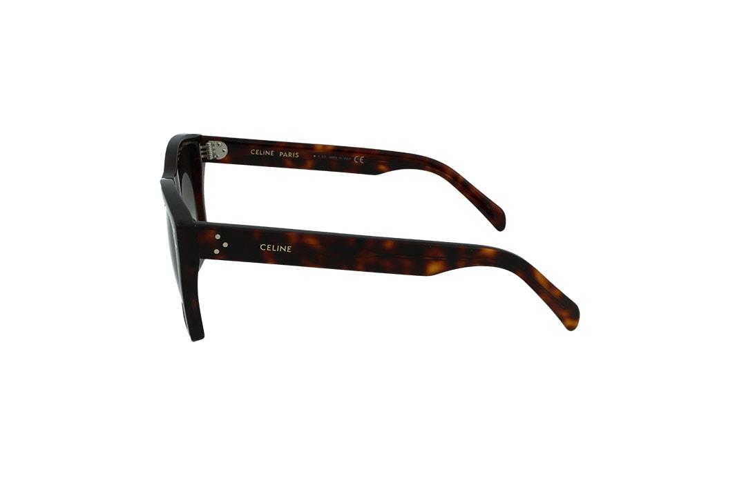 משקפי שמש מבית CELINE בדגם נשי מרובע בגוון חום מנומר ועדשות בגוון אפור מדורג
