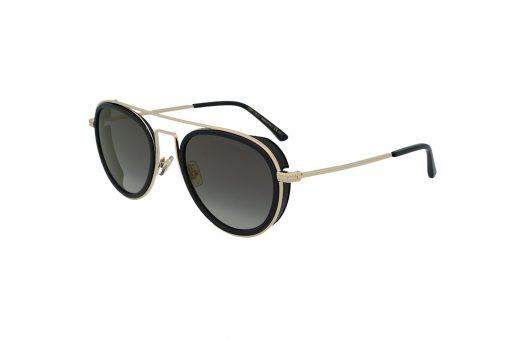 משקפי שמש מבית JIMMY CHOO בדגם מרובע גברי בגוון זהב ועדשות בגוון אפור מדורג