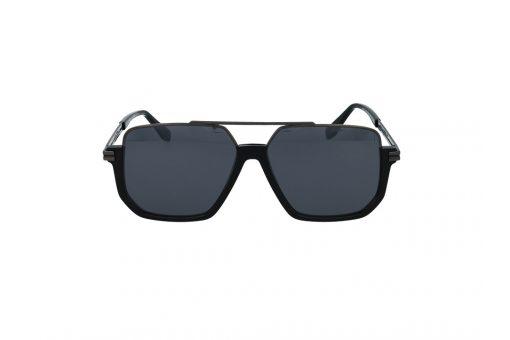 משקפי שמש מבית MARC JACOBS בדגם חתולי נשי בגוון שחור וכסוף ועדשות בגוון אפור מדורג
