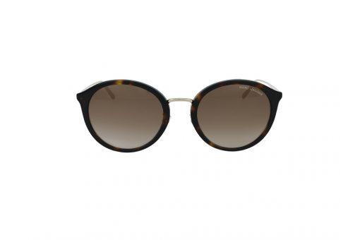 משקפי שמש מבית MARC JACOBS בדגם גאומטרי נשי בגוון זהב ועדשות בגוון חום מדורג
