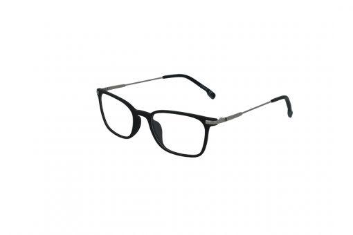 משקפי ראייה Ultemate opt מסגרת אולטם בגוון שחור מט וזרוע כסף