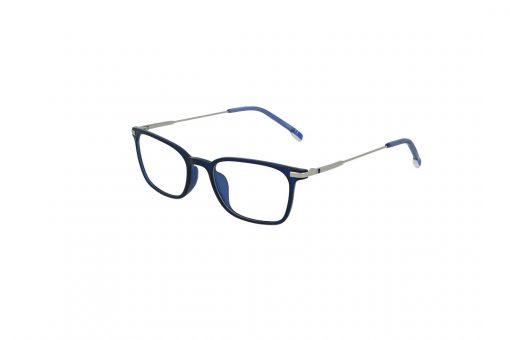 משקפי ראייה Ultemate opt מסגרת אולטם בגוון כחול מבריק וזרוע כסף